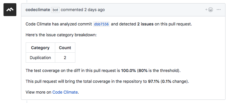 Automated Pull Request Review Comments